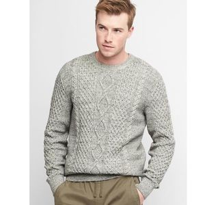 Gap Cable Knit Crewneck Sweater Med Grey XXL